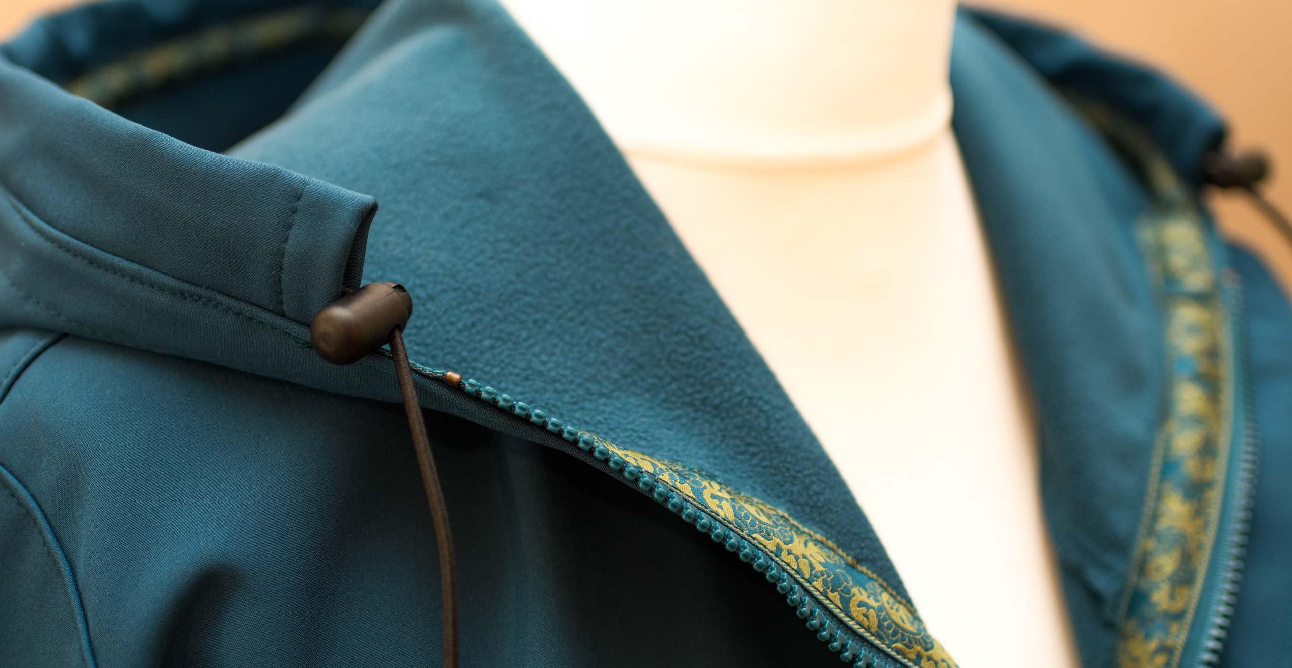 Mantel Softshell Maßanfertigung im Detail
