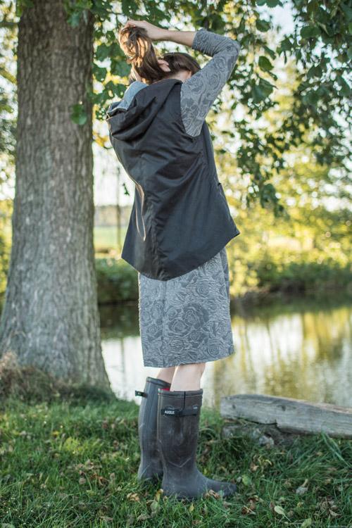 Leichte Damenweste aus gewachster Baumwolle
