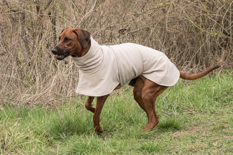 Rideback mit Hundemantel aus Softshell